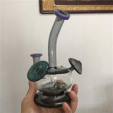 Venda por grosso de cogumelos do tubo de reciclagem de vidro pequeno tubo de água