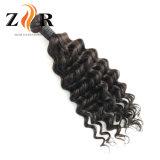 インドの緩いカールのバージンのRemyの人間の毛髪のよこ糸