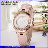 Relógio de pulso ocasional da mulher de quartzo da forma (Wy-067D)