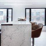 Taille standard Engineered banc de pierre de quartz haut de page