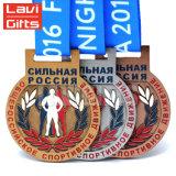 安い習慣3Dの金属の彫版の記念品のTriathlon賞のスポーツメダル