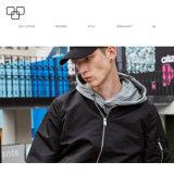 (Торговый обеспечение) изготовленный на заказ оптовая продажа зимы людей куртки куртки бомбардировщика водоустойчивая черная