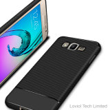 Nuova cassa del telefono della fibra TPU del carbonio per perfezione di Samsung J2