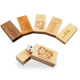 Mecanismo impulsor de madera del flash del USB del bloque de la insignia de la personalidad de la manera
