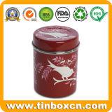 El té de la ronda de la caja de hojalata, el Metal Caddy de té, té tin box