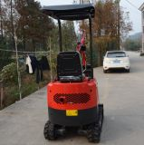 (CX10T) Profundidade da Placa Bulldozing 345mm Mini escavadeira hidráulica