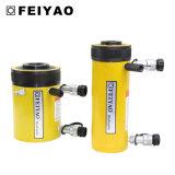 Cylindre creux temporaire de plongeur de double de cric hydraulique de trou de centre de cylindre de pétrole