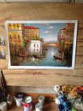 Ausgedehnte Segeltuch-Wand-Kunst-Brücke der Seufzer-Paletten-Messer-Venedig-Ölgemälde