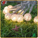 Corda clara Multicolor decorativa do diodo emissor de luz da esfera de algodão para o baixo preço do festival