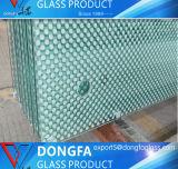 O vidro temperado com bordas polidas/furos/frita de cerâmica