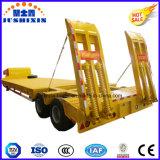 Indústria directo 80 toneladas-100 toneladas capacidade quatro eixos do reboque de mesa baixa para venda