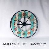 Home Decor Metal et le MDF Horloge murale en finition colorée