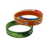 Fascia di gomma su ordinazione promozionale del silicone, braccialetto del silicone, Wristband del silicone