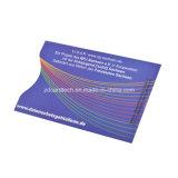 Impressão a cores do protector de cartão de crédito da Luva do cartão de bloqueio de RFID