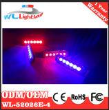 4X6 indicatori luminosi della griglia del volante della polizia di colore rosso blu LED