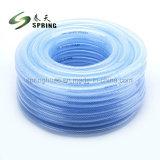 L'eau Transparent en plastique PVC flexible tressé en fibre flexible du tuyau de jardin
