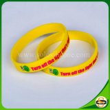 Form-kundenspezifischer Firmenzeichen-SilikonWristband mit Silk Drucken