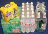 완전히 자동 물 또는 우유 또는 주스 또는 맥주 병 수축 감싸는 기계, 열 갱도