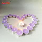 Handgemachter Lavendel-aromatische Alaun-Cup Tealight Kerze in der Masse
