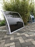 Wind Rain Resistance Door and Window Policarbonato Awning Shelter Rebentado