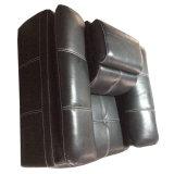 黒い現代ソファー、革ソファーの家具(C40)