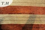 2016 100% poliéster Brown e listras verticais de ouro tecido Sofá