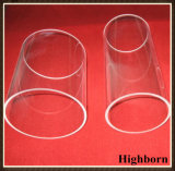 Grande tubo della conduttura di vetro di quarzo del silicone fuso della radura di formato