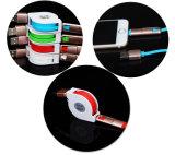 2 câbles usb de remplissage escamotable de caractéristiques de la foudre in-1 pour l'iPhone Samsung