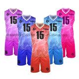 100%Polyester Coolmax Custom SUBLIMATION Maillot de basket-ball de conception de logo