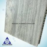 Panneaux en aluminium en pierre gentils d'âme en nid d'abeilles pour la décoration de mur de construction