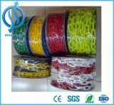 Chaîne en plastique colorée/circulation avertissant la chaîne de sûreté jaune