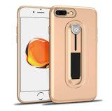 プラスiPhone 8のための電話箱のKickstand TPUのケース