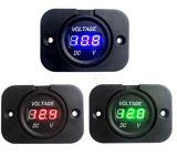 자동차 기관자전차를 위한 24V 발광 다이오드 표시 차 디지털 전압계 전기 전압 미터 소켓에 DC 12V