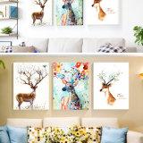 Cuadro modificado para requisitos particulares de la pared de la pintura de la lona del aceite animal para el hogar, oficina, decoración del hotel