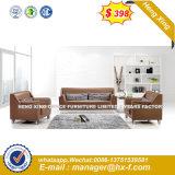 La moderna oficina de cuero auténtico sofá con la madera (HX-S303)
