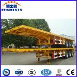 Se utiliza para contenedor de transporte de superficie plana de 3 ejes Semi-Trailer