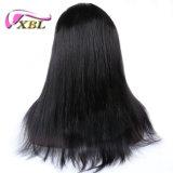 Parrucca piena diritta del merletto dei capelli umani del Virgin brasiliano di densità di Xbl 180%