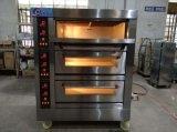 De Oven van het Dek van het Gas van drie Compartiment voor het Baksel van het Brood