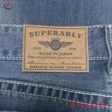 Мода дизайн этикетки для исправления из натуральной кожи джинсы