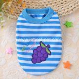 Le T-shirt d'été d'animal familier de produit de crabot estampé par raisin choie le vêtement