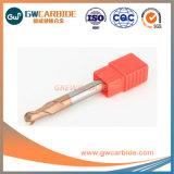 Fresa di CNC del laminatoio di estremità del carburo di tungsteno di buona prestazione di HRC 55
