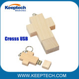 Деревянный крест форму флэш-накопитель USB для христианства
