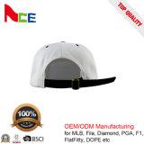 大人のサイズの革パッチ6のパネルの平らな縁の帽子をカスタム設計しなさい