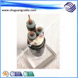 Câble de commande engainé par Screened/PVC inférieur de la bande a isolé de Smoke/PVC/Armoured/Cu