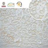 Bordado blanco de la tela del cordón, hermoso y delicado con la buena calidad, Ln10070