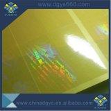 Impresión transparente de encargo de la escritura de la etiqueta del holograma en China