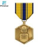 Échantillon gratuit de ruban personnalisé plaqué Médaille militaire