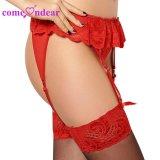 В НАЛИЧИИ НА СКЛАДЕ Manufacturering жир женщин красный кружевной моды Sexy плюс размер Garter