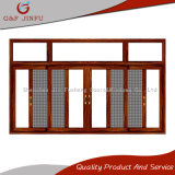Armazón de aluminio doble acristalamiento de Puerta/Ventana deslizante Pantalla con Mosca