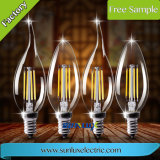 Luz de bulbo tradicional del filamento LED de la dimensión de una variable de E27 E14 E12 4/8/12W Edison C35/A60